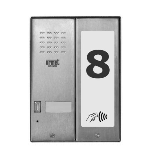 Домофонно табло за 1 абонат с RF четец - URMET MIWUS 5025/1D-RF