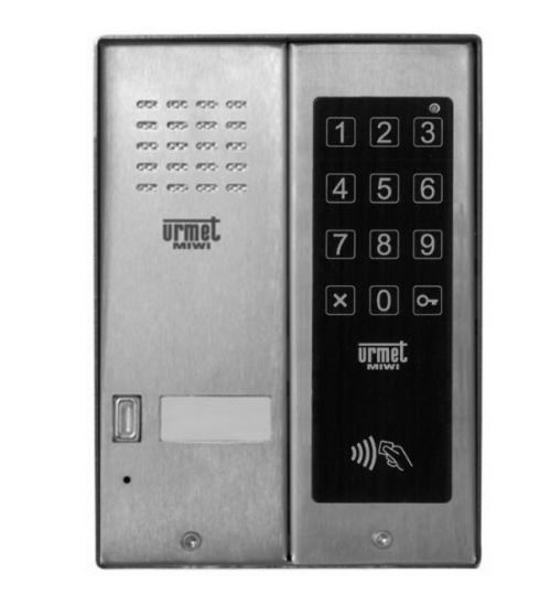 Домофонно табло за 1 абонат с RF четец и цифрова бутониера - URMET MIWUS 5025/1D-ZK-RF