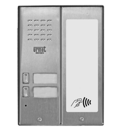 Домофонно табло за 2 абоната с RF четец - URMET MIWUS 5025/2D-RF