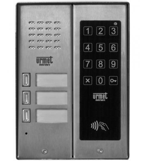 Домофонно табло за 3 абоната с RF четец и цифрова бутониера - URMET MIWUS 5025/3D-ZK-RF
