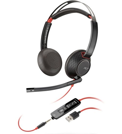 Професионална микрогарнитура  Plantronics Blackwire C5220 USB-А