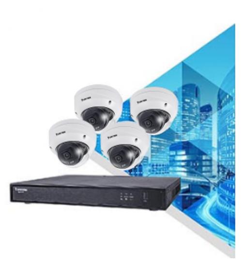 Комплект за видеонаблюдение Vivotek - 8 бр. 5MP камери и NVR