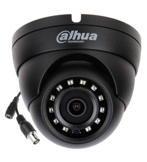 2MP HDCVI куполна камера Dahua HAC-HDW1200M-0280B-BLACK