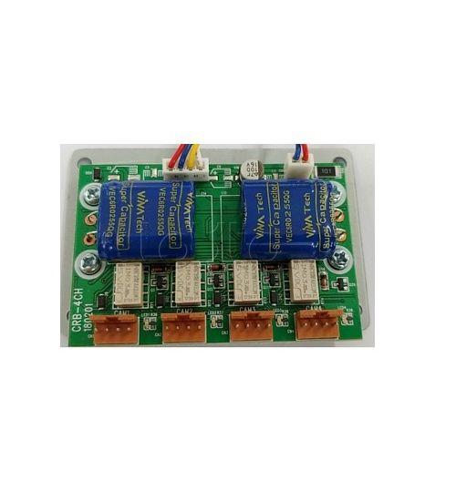 4 порта, релейна платка за връзка до 4 аналогови индивидуални  камери CRB-4CH