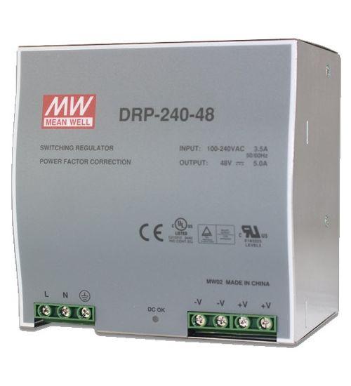 DIN индустриален адаптор MEANWELL DRP-240-48
