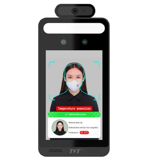 Самостоятелен терминал за разпознаване на лица и безконтактно измерване на температура  TVT TD-E2128-TM
